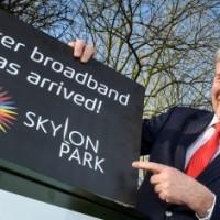Bill Jackson launches Hereford's superfast broadband
