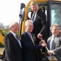 Ministers Kris Hopkins and Brandon Lewis with New Anglia LEP chairman Mark Pendlington and New Anglia board member Mark Goodall