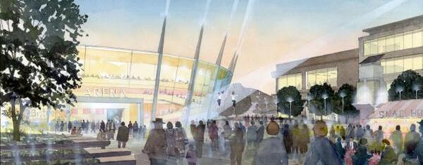 Artist's impression of Bristol Arena