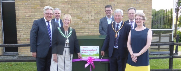 Local leaders gather to launch super fast broadband in Harlow Enterprise Zone