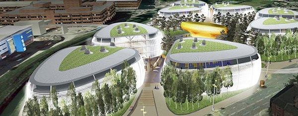 Artist's impression of what Nottingham Medipark could look like