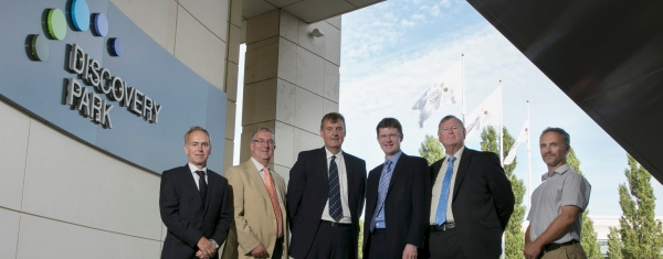 BIS minister Greg Clark (3rd from right) visits Discovery Park