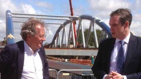 New Bristol Bridge - James Wharton visit