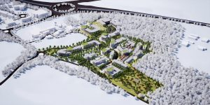 Aerial CGI of Kent Medical Campus