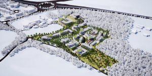 Aerial CGI of Kent Medical Campus