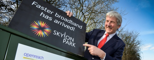 Bill Jackson launches Hereford's superfast broadband